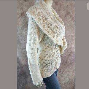 Marie Philippe Sweaters - Marie Philippe Open Cardigan Sweater SZ L Wool
